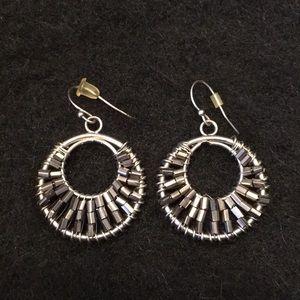 Jewelry - Beaded circle earrings